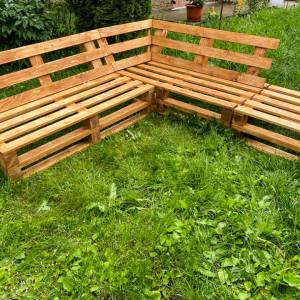 Coltar de grădină din paleți Carina, lemn masiv