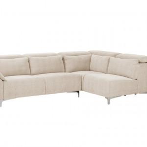 Coltar OSLO, textil, bej, 279 x 95 x 178 cm