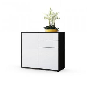 Comoda Ben, alb/neagra, 74 x 79 x 36 cm