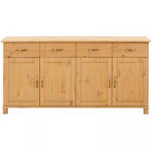 Comoda Finbar din lemn masiv, 77 x 156 x 34 cm