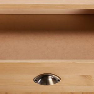 Comoda mare Toscana din lemn masiv pin - o usa/5 sertare - 75/60/85 cm