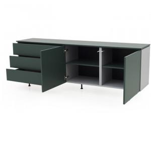 Comoda, MDF, verde, 76 x 210 x 45 cm