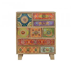 Comoda Trisha, lemn, multicolora, 63 x 52 x 30 cm