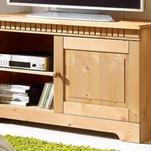 Comoda TV Cubix, lemn masiv de pin, 94/35/50 cm