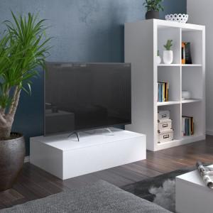 Comoda TV MiPuro II, MDF, alb