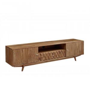 Comoda TV Mosayk, maro, lemn masiv, 195 x 48 x 40 cm