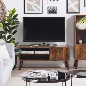 Comoda TV VANLER, lemn, maro, 50 x 110 x 40 cm
