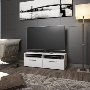 Comoda TV Vase, lemn, alba, 95 x 36 x 35 cm