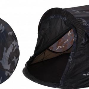 Cort Karll pentru 2 persoane camuflaj pop up poliester, albastru, 220 x 120 x 95 cm