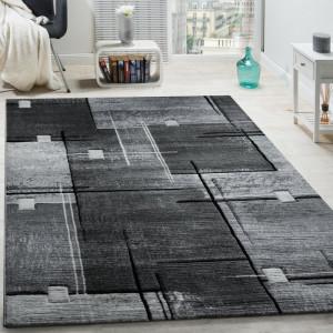 Covor Avah, polipropilena, gri/negru, 200 x 290 cm