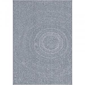 Covor Bouie Flatweave albastru, 120 cm x 170 cm