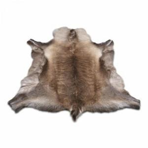 Covor din piele Garmon Reindeer, gri, 70 x 125 cm