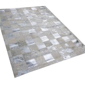 Covor Yazir, piele, argintiu/bej, 160 x 230 cm