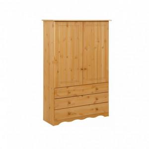 Dressing Minik, lemn masiv de pin, natur, 95 x 35 x 140 cm
