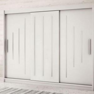 Dressing Natalie cu 3 usi glisante, alb, 200 x 250cm