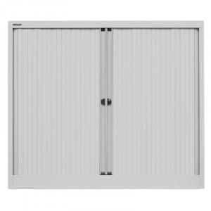 Dulap de depozitare cu 2 usi, metal , gri, 103 x 120 x 43 cm