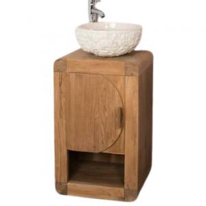 Dulap pentru chiuveta Liskeard, de sine statator, lemn masiv, 720 x 440 x 360 cm