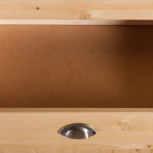 Dulap tip soldat Oslo Toscana, lemn masiv, 205 x 50 x 60 cm