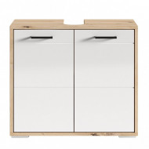 Dulapior pentru chiuveta Worland PAL, alb/maro, 60 x 59 x 32 cm