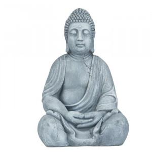 Figurina Buddha Towe, ceramica, gri, 50 x 30 x 25 cm