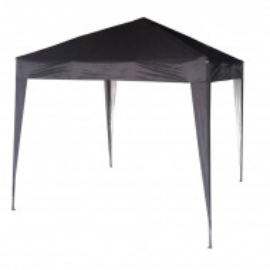 Foisor Janvey din aluminiu, negru, 2m x 2m