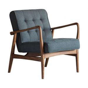 Fotoliu Castlewood, textil, gri/maro, 80 x 70 x 74 cm