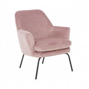 Fotoliu Chisa din catifea roz, 68 x 83 x73cm