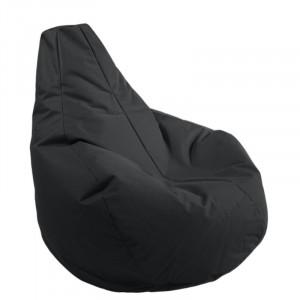 Fotoliu Gamer, Bean Bag, negru, 100 x 90 x 90 cm