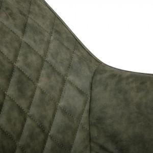 Fotoliu Pori Kashmir, piele sintetica, verde masliniu
