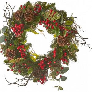 Ghirlandă de Crăciun cu conuri de pin Addy, d. 40cm