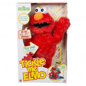 """Jucarie de plus Elmo """"Gadilici"""" 123 Sesame Street, peste 20 sunete de ras și fraze"""