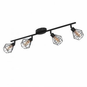 Lustra LED Zapata otel, negru, 4 becuri, 230 V