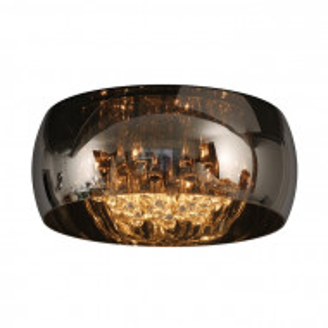 Lustra Pearl, crom/transparenta, 21 x 40 x 40 cm, 28w