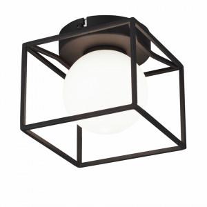 Lustra Q-ball I sticla/metal, negru, 1 bec, 230 V