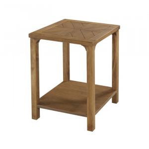 Masa Betts, lemn masiv/fabricat, maro, 61 x 46 x 46 cm