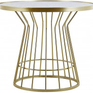 Masa de cafea Concan, marmura/auriu, 51 x 60 x 60 cm