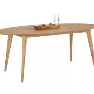 Masa de living Olivia by Home Affaire, lemn masiv de salcam, natur, 160/100/78 cm