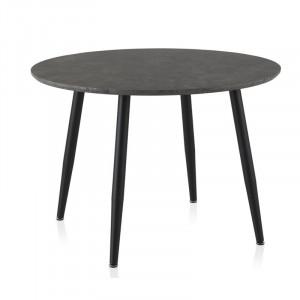 Masă Eck din metal, negru, 110cm L x 110cm W x 75cm H