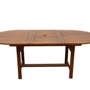 Masa extensibila Afrin, lemn masiv, maro, 74 x 100 x 150/200 cm