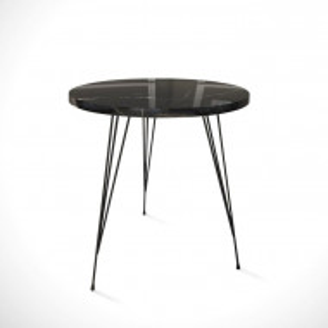 Masa laterala Aneres, metal/PAL, neagra, 44 x 40 x 40 cm