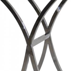 Masa laterala Caicara - crom / sticla