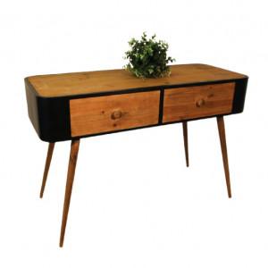 Masa tip consola Carina, lemn/metal, 66 x 100,5 x 41,5 cm