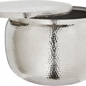 Masuta de cafea Alu-Shine, cu spatiu de depozitare, diametru 74 cm