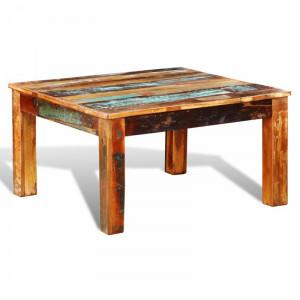 Masuta de cafea Chevy, lemn masiv, multicolor, 45 x 80 x 80 cm