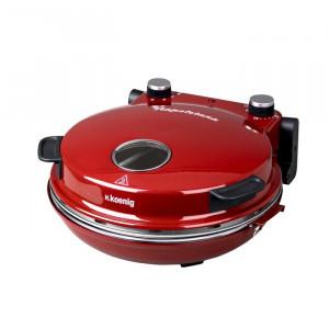 Mini cuptor pentru pizza, ceramica, rosu, 13 x 36 x 35 cm