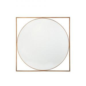Oglinda de perete NIHOA, MDF, aurie, 76 x 76 x 2 cm