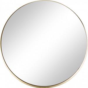 Oglinda rotunda de perete, aurie, 43 x 3 cm