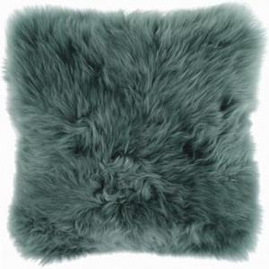 Pernă din blană de oaie Cassy, verde, 35x35cm
