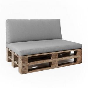 Perna pentru canapea de gradina, gri, 120 x 40 cm
