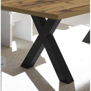 Picioare masa Annawan, MDF, negre, 67 x 68 x 9 cm